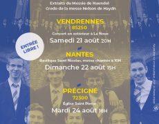 Concert de l'Académie Musicale de Liesse à Précigné (Sarthe) le 24 août