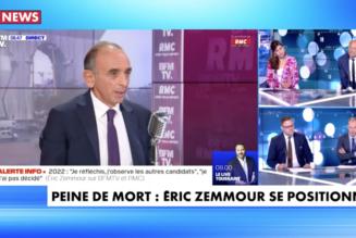 Eric Zemmour relance le débat sur la peine de mort