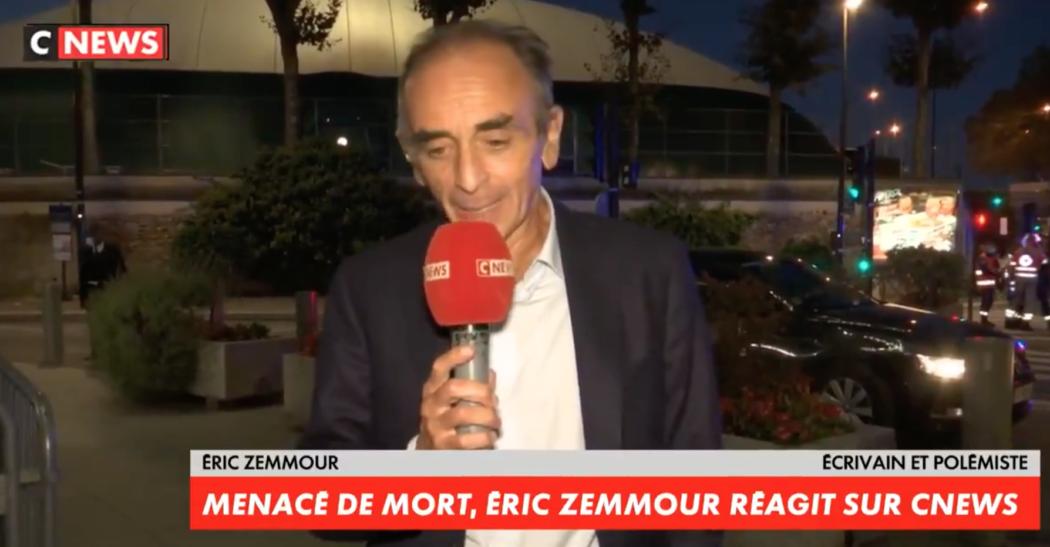 Eric Zemmour menacé de mort : «C'est ce qui arrive à beaucoup de Français tous les jours, moi j'ai la chance d'être protégé»