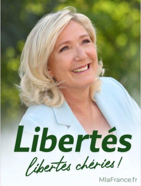 affiche de campagne présidentielle 2022, Marine Le Pen