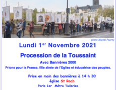 1er novembre : procession de tous les saints à Paris