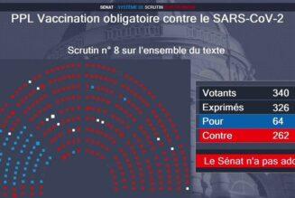 Le Sénat rejette la proposition de loi sur l'obligation vaccinale